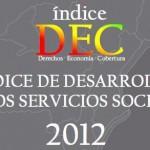 Índice de desarrollo de los servicios sociales 2012