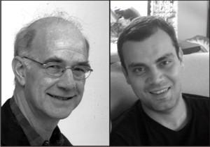 De izquierda a derecha: Michael Burawoy y Ruy Gomes Braga