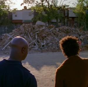 """Conversación de Colvin y Bubbles sobre lo que quedó de Hamsterdam. """"The Wire""""."""