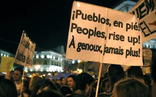 Manifestación del movimiento 15M en Madrid contra las medidas de austeridad, mayo de 2011. © Miguel Parra