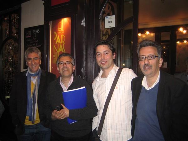 De izquierda a derecha: Luis Castro, Miguel Ángel Castro, Rubén Crespo y Laureano Castro