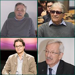 De arriba a abajo y de izquierda a derecha: Jaime Pastor, Ramón Cotarelo, José Ignacio Torreblanca y Alejandro Tiana | Fuente: uned.es